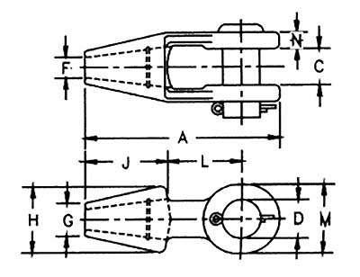 Open Spelter Socket