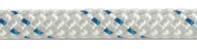 Kernmantle Rope - White with Blue Tracer